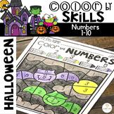 Halloween Color by Code Numbers 1-10 Activities