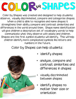 Halloween Color by Shapes