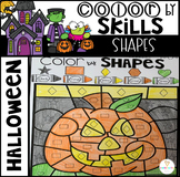 Halloween Color by Code Shapes