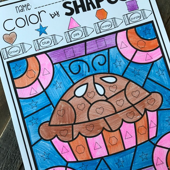 Thanksgiving Color by Shapes
