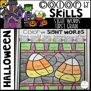 Halloween Color by Sight Words First Grade