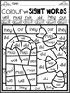 Halloween Color by Sight Words Pre-Primer Sight Word Activities