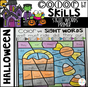 Halloween Color by Code Sight Words Primer Sight Word Activities