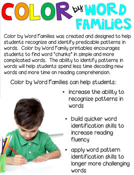 Halloween Color by Word Families