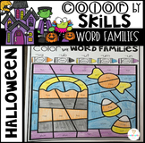 Halloween Color by Code Word Families