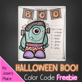 Halloween Color by Number FREEBIE