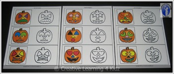 Halloween Color the Pumpkin Cards