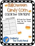 Halloween Color the Ten Frame - Candy Corn