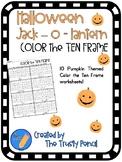 Halloween Color the Ten Frame - Pumpkins