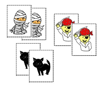 Halloween Colored Memory Game (32 pairs of cards)