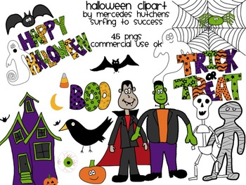 Halloween Colorful Clipart
