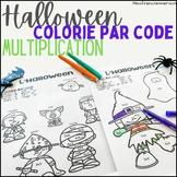Halloween - Colorie par code (multiplications)
