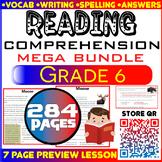 Reading Comprehension Passages & Questions | MEGA Bundle | Grade 6