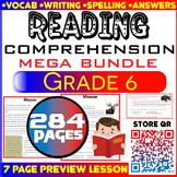 Reading Comprehension Passages & Questions | MEGA Bundle |