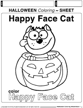 Easy Halloween Coloring Page 09 | Free Easy Halloween Coloring Page | 350x269