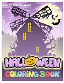 Halloween Coloring Book - witches, ghosts, Frakenstein, vampire