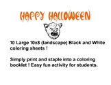 Halloween Coloring Booklet !