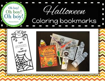 Halloween Coloring Bookmarks