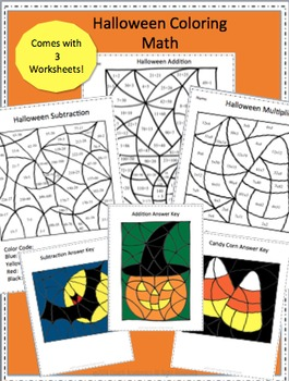 Halloween Math Coloring Pages
