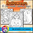 Halloween Coloring Pages, Zen Doodles, Set 2