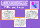 Halloween Coloring Pages Funky Pumpkins Set #3