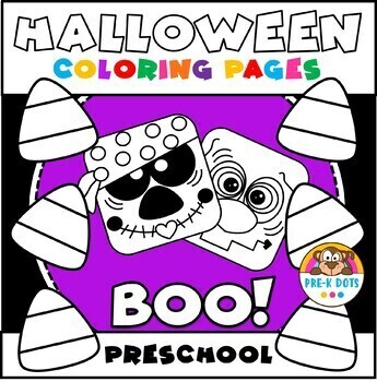 Halloween Coloring Pages Preschool And Kindergarten By Pre K Dots