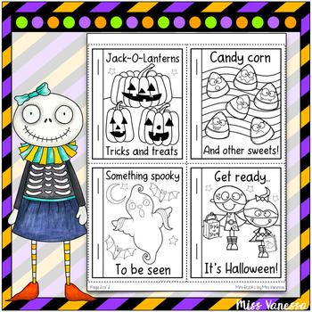Halloween-Themed Easy Reader Mini-Book