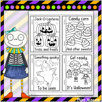 Halloween Mini-Book Rhyming Short Story And Poem