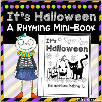 It's Halloween! Mini-Book Easy Reader  ~ Trace The Words &