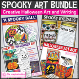 Halloween Coloring Pages and Art Activities Bundle