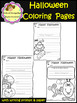 Halloween Coloring Pages and Writing Prompt / Paper (School Designhcf)