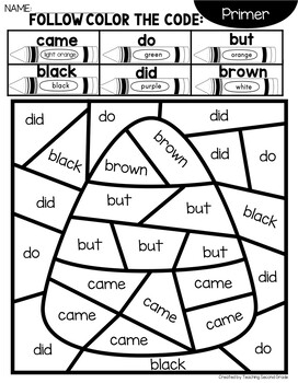 Halloween Coloring Pages with Primer Words