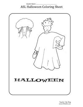 Halloween Coloring Sheet