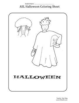 Halloween Coloring Sheet