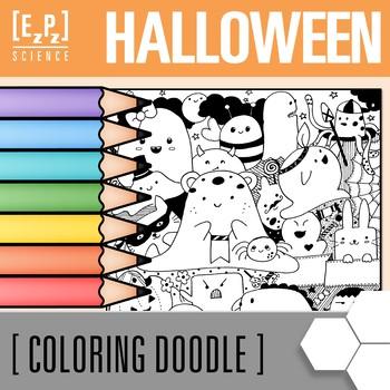 Halloween Coloring Sheet Freebie