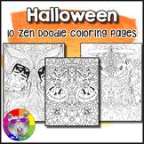 Halloween Coloring Pages, Zen Doodles