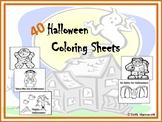 Halloween Coloring Sheets