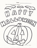 Halloween Coloring Worksheet