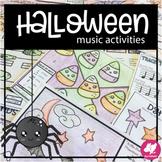 Halloween Music Worksheets, Activities, & Board Game
