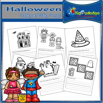 Halloween Coloring & Writing Prompts