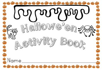 Halloween Activity Book for Early Years and KS1