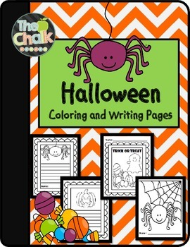 Halloween Coloring and Writing Pages