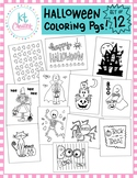 Halloween Coloring bundle! 12 pages!