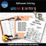 Halloween Coloring with One-Step Linear Equations