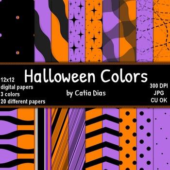Halloween Colors - 20 Digital Papers