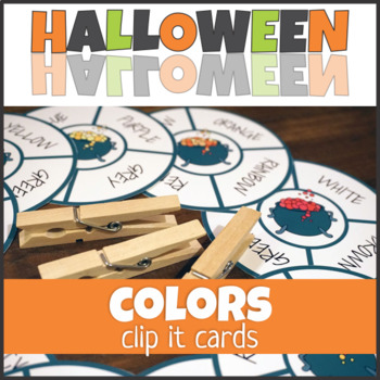$1 Deal Halloween Colors Clip It Cards