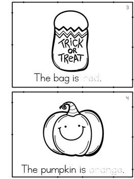 Halloween Colors Emergent Reader