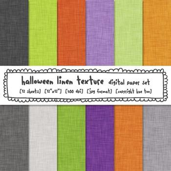 Halloween Colors Linen Texture Digital Paper, Orange, Green, Purple, TpT Sellers
