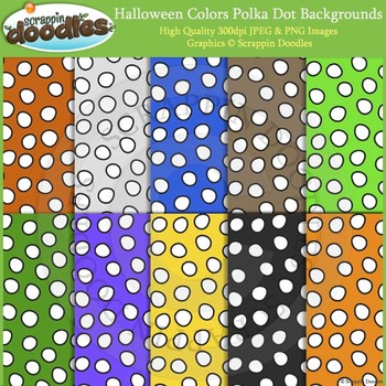 Halloween Colors Polka Dot Backgrounds