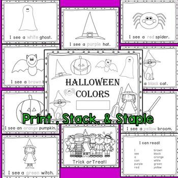 Halloween Sight Word Book